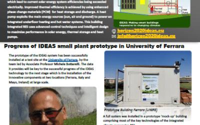 Progress of IDEAS: Small plant prototype in University of Ferrara, Focus Group Research Cagliari