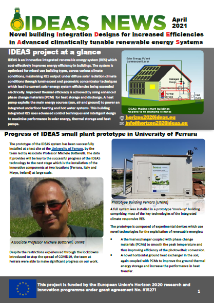 Image of cover of the IDEAS newsletter