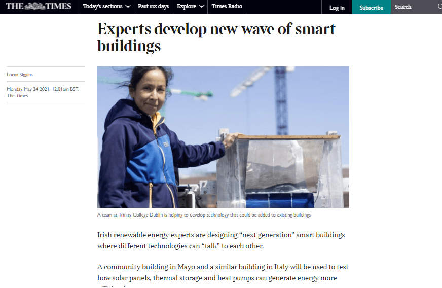 IDEAS H2020 project covered today in The Times